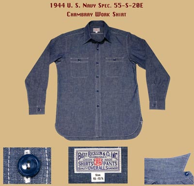 vintage Chambray Navy Shirt specs