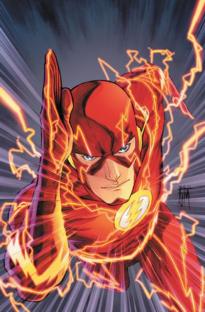 Flash comic book cover of artist Francis Manapul.