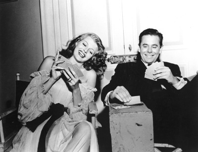 Vintage couple playing cards.