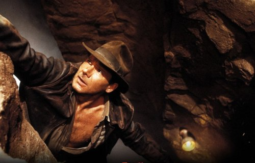 harrison ford indiana jones hanging cliff