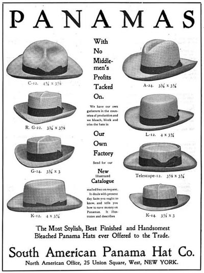 vintage panama hat styles workwear ad advertisement