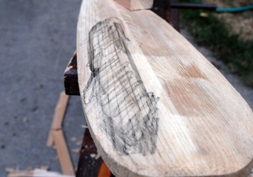 After smoothing the edges of paddle.
