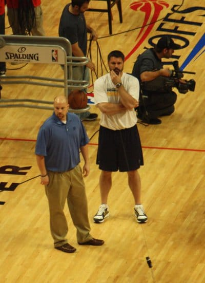 shawn windle nba strength coach on court floor