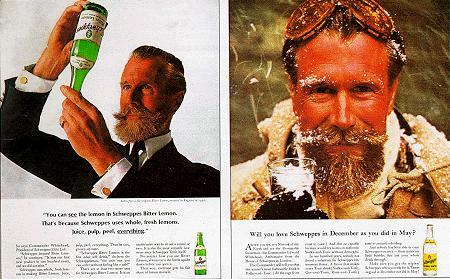 Commander Whitehead Schweppes vintage advertisement.