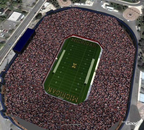 university of michigan football stadium big house aerial