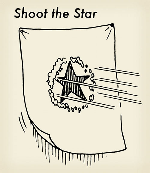 how to win shoot the star fair game illustration diagram