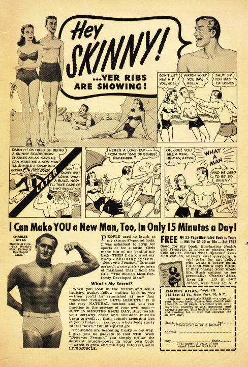 charles atlas ad advertisement make a new man