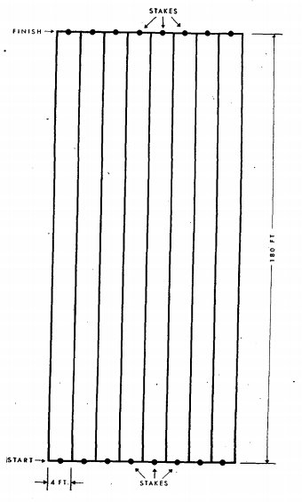 A diagram of a stake.