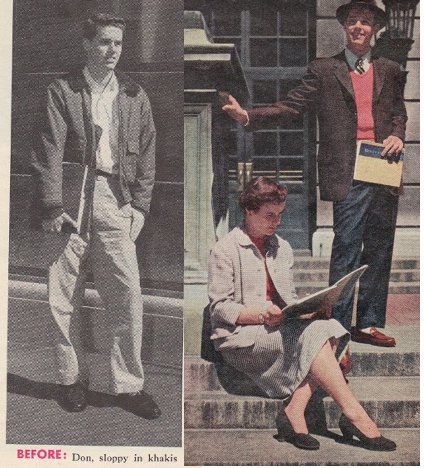 vintage true magazine young man's style before after