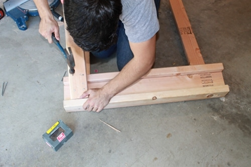 how to build construct homemade diy sawhorse for garage