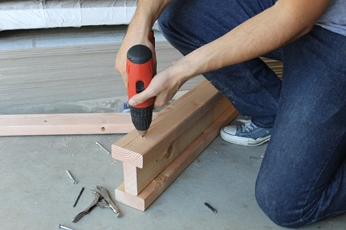 how to build construct diy homemade sawhorse