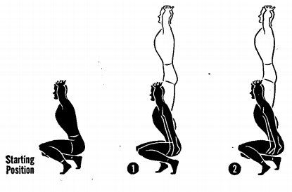 How to do squat jumps illustration military manual.