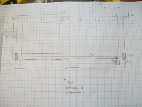 plans blueprints for diy homemade dining room table
