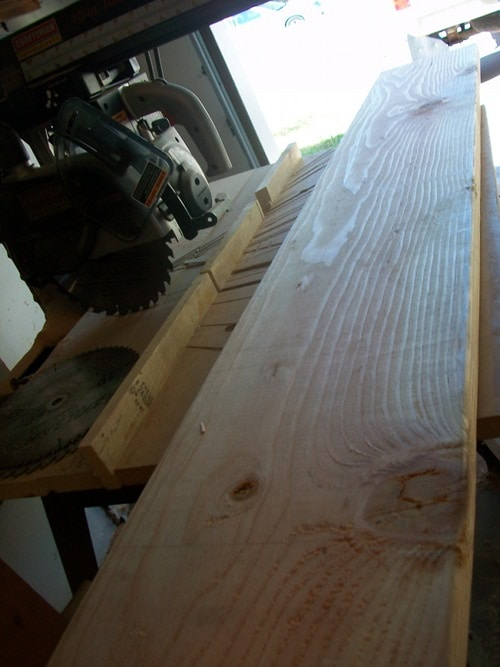 cutting wood lumber for diy homemade dining table