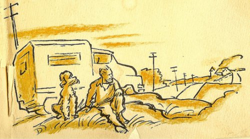 travels with charley steinbeck book illustration