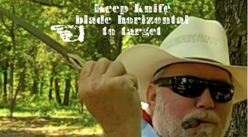 how to throw a knife blade horizontal to target