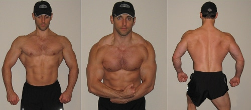 Man showing muscles in different positions.