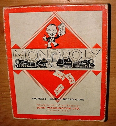 vintage monopoly board game john waddington