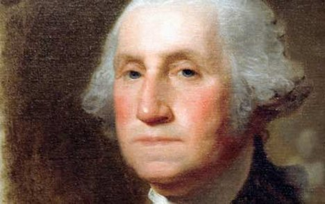 george washington painting portrait face close up