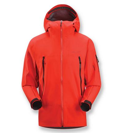An orange winter jacket.