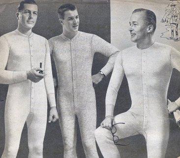 Men wearing multiple layers of garments.