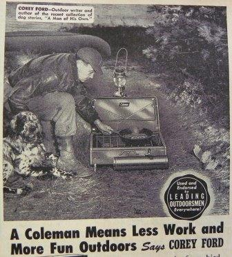 vintage coleman camp stove ad advertisement
