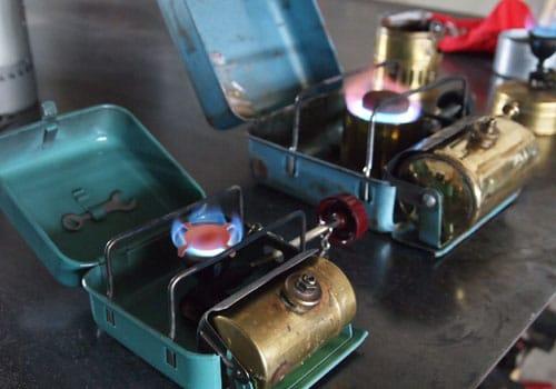 Optimus portable camp stove.