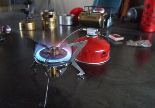 MSR Windpro canister portable camp stove camping