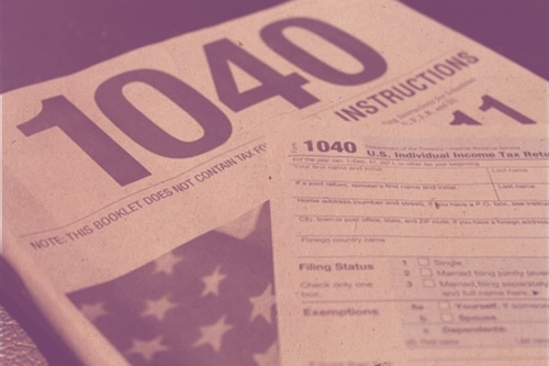 vintage 1040 tax form instructions booklet