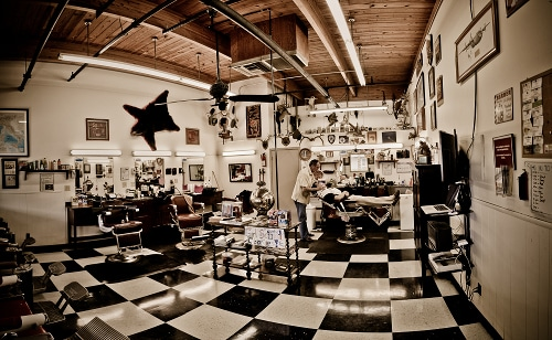 Well furnished barber shop.