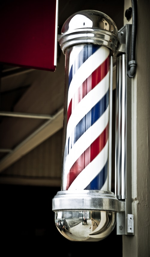 Barbershop pole.