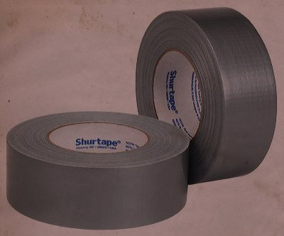 two rolls of duct tape shurtape brand