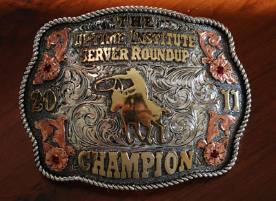 Belt buckles.