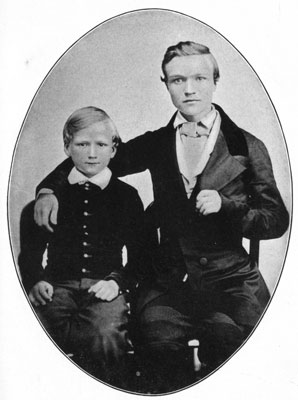 andrew carnegie portrait with brother thomas age 16