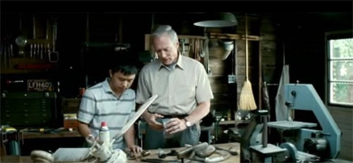 walt kowalski clint eastwood gran torino workshop with boy