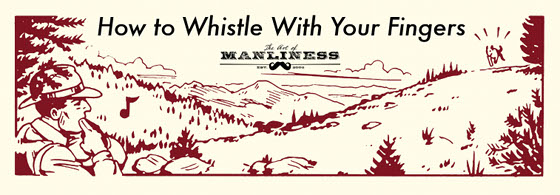 man park ranger in woods whistling with fingers illustration