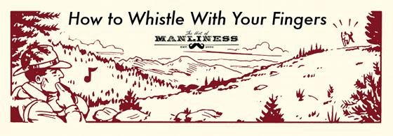 man park ranger in woods whistling with fingers illustration