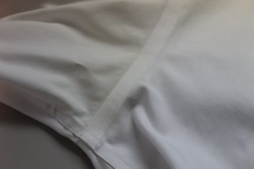 white dress shirt armpit stain after oxiclean soak