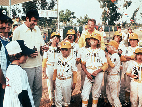 bad news bears 1976 kids in uniform on field