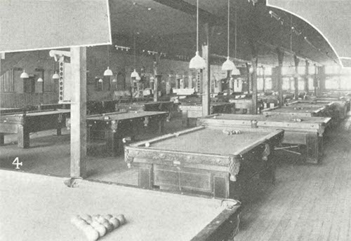 late 1800s vintage billiards pool hall