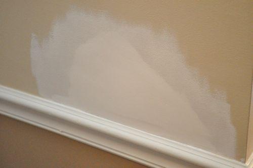 Apply primer on drywall.
