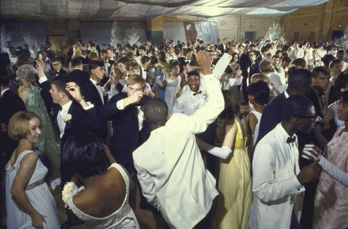 vintage prom dance young high schoolers dancing