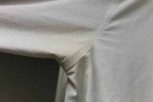 yellow armpit stains on white dress shirt