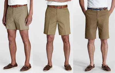 Boys wearing shorts.