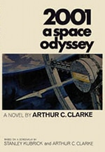 Book cover of  A Space Odyssey by Arthur C. Clarke.