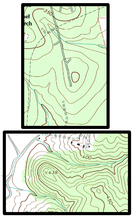 Vintage topographic maps illustration.
