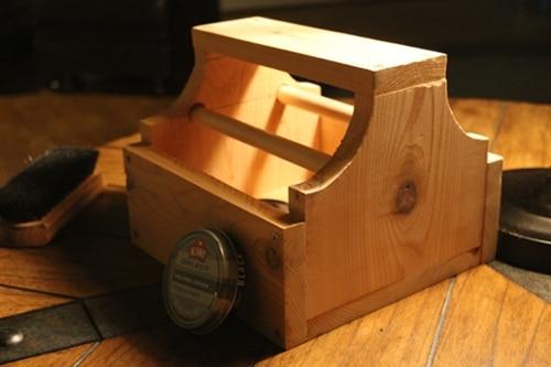 diy homemade wooden shoe shine box