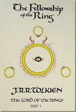 Book cover of Lord of the Rings Trilogyby J.R.R. Tolkien.