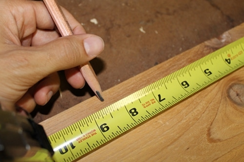 Vintage measuring and marking all cuts illustration.
