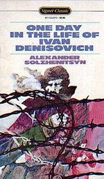 Book cover of One Day in the Life of Ivan Denisovichby Aleksandr Solzhenitsyn.